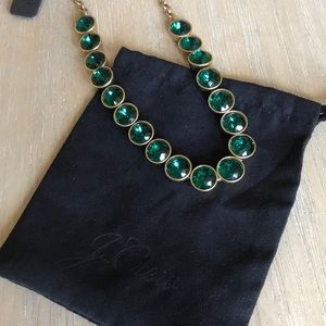 NWT J. Crew Emerald Statement Necklace
